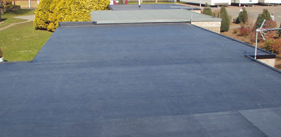 Re-inforced bitumen felt roofs
