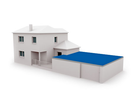 Residential flat roofs - garages